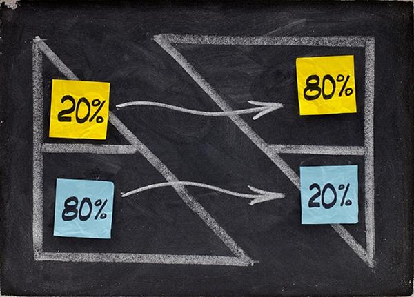 Иллюстрация к статье: Как работать меньше, а зарабатывать больше, или Закон Парето в маркетинге