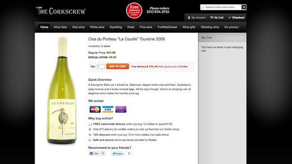 Corkscrew Wine