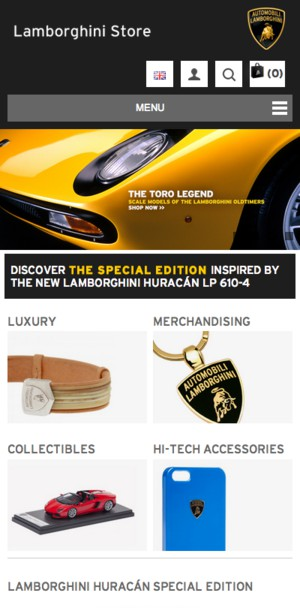 интернет-магазина Lamborghini