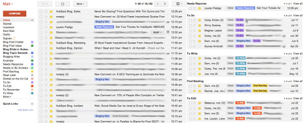 Gmail Lables