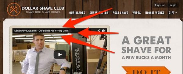 Контент Dollar Shave Club