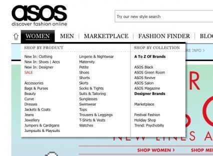 Интернет-магазин одежды Asos