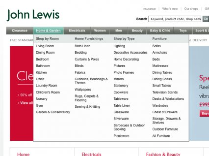 Интернет-магазин John Lewis