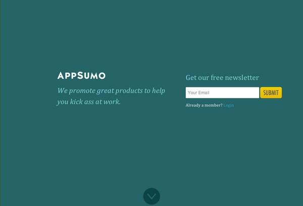Целевая страница AppSumo
