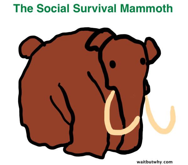 Иллюстрация к статье: Укрощение мамонта: почему вас не должно волновать чужое мнение, или Концепция общественного осуждения