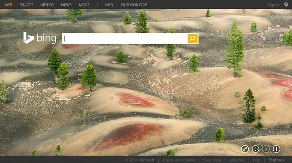 Главная страница Bing