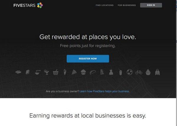 сервис обслуживания подарочных карт FiveStars