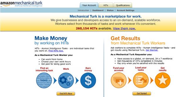 Механический турок Амазон (Mechanical Turk)