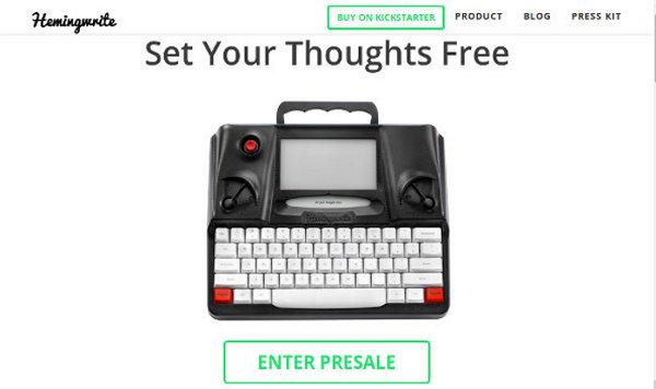 Иллюстрация к статье: Стартап Hemingwrite: новая концепция печатных машинок для поколения миллениалов