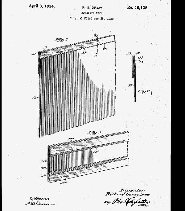 иллюстрация клейкой ленты Дрю