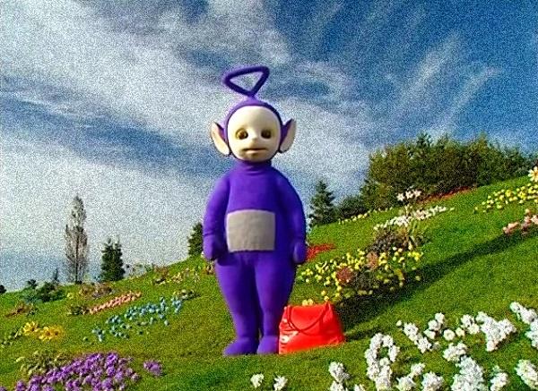 фиолетовый телепузик