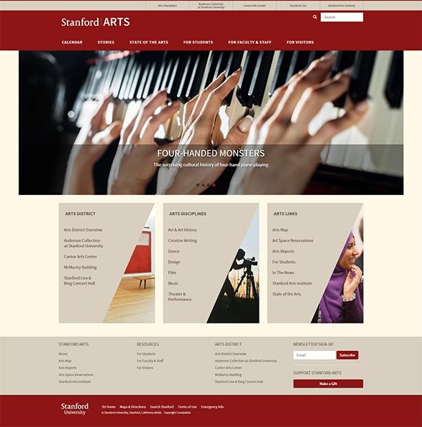 Сайт Stanforfd Arts
