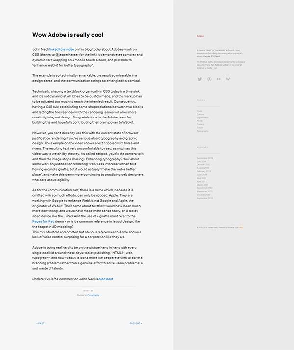 страница блога bureau