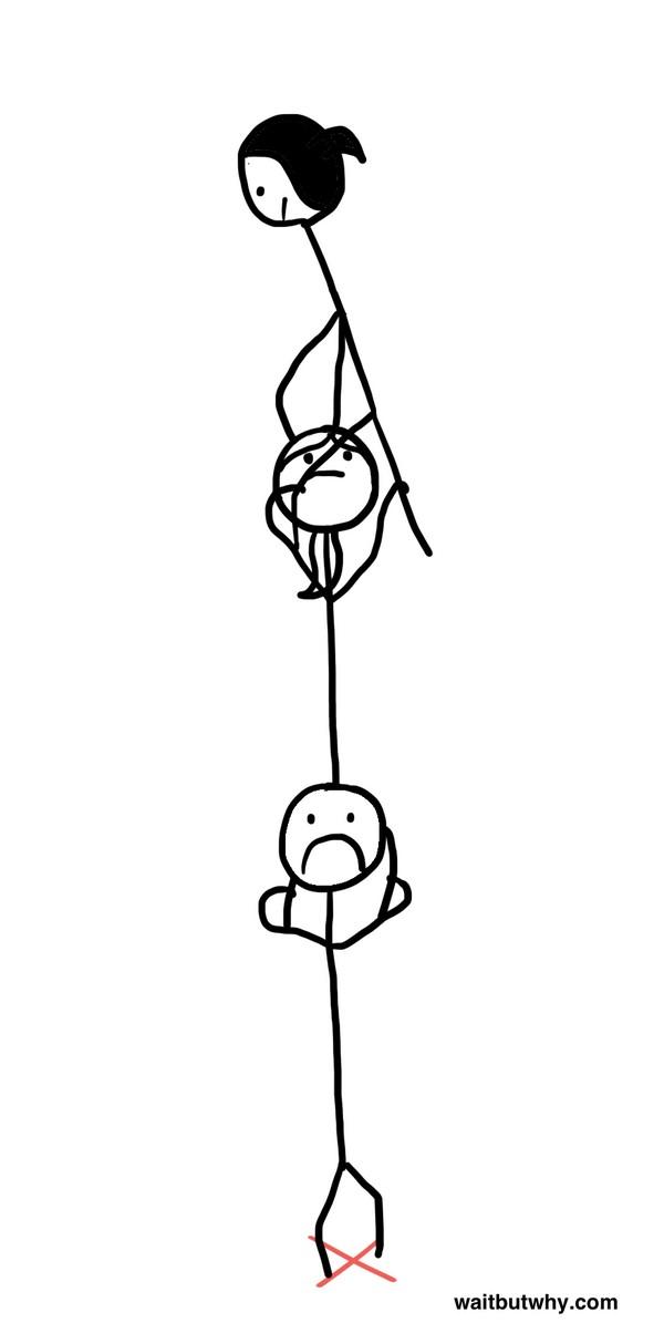 Составлять живую цепочку