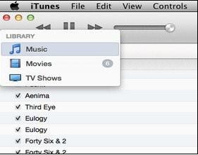 интерфейс медиаплеера iTunes