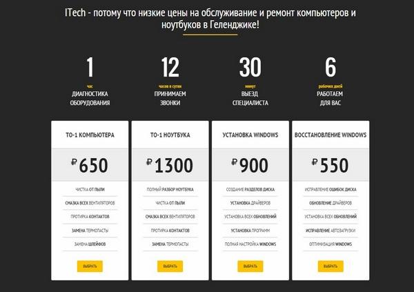 Дизайн страницы услуги
