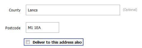 Наличие адреса