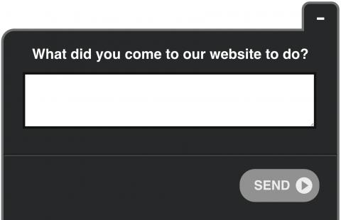 On-page опрос