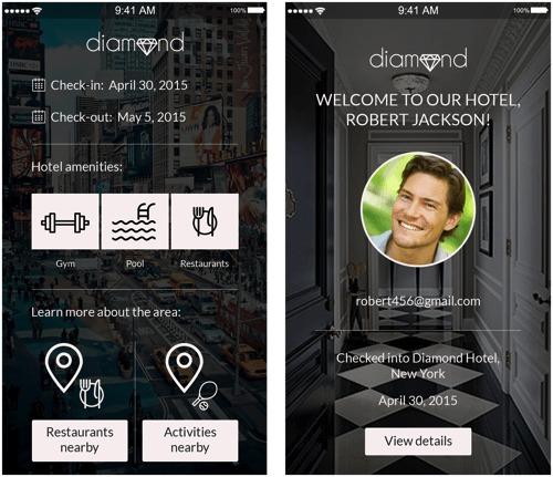 Прототип приложения для отеля