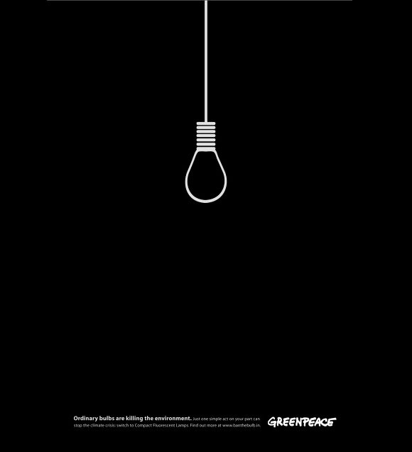 16. Greenpeace: Lightbulb