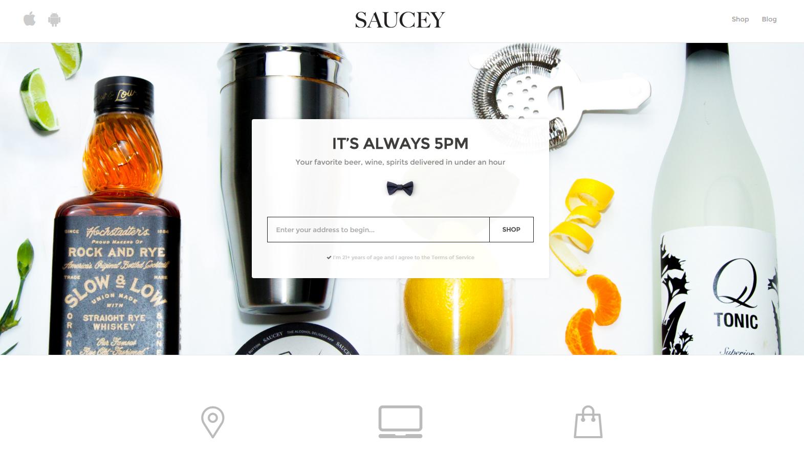 7. Saucey (доставка алкоголя)