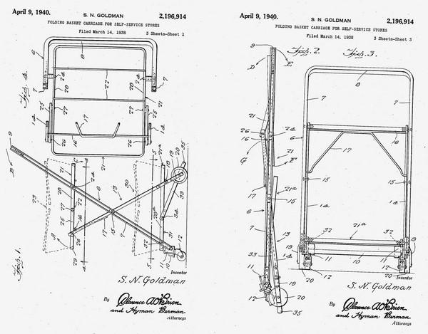 Оригинальный патент Сильвана Голдмана