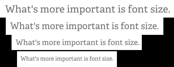 Шрифт vs Размер