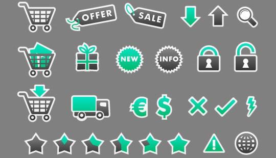 Stylish Ecommerce Icon Set