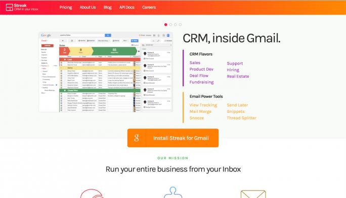 Streak для Gmail