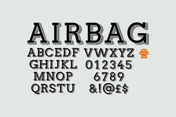 Airbag шрифт