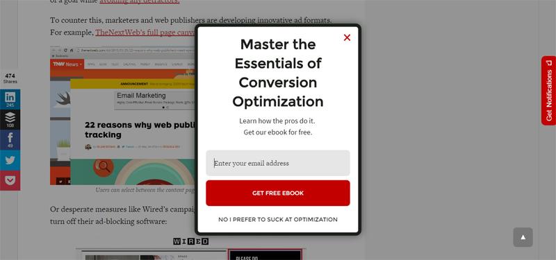 Иллюстрация к статье: 30 примеров конвертирующих Exit Pop-up