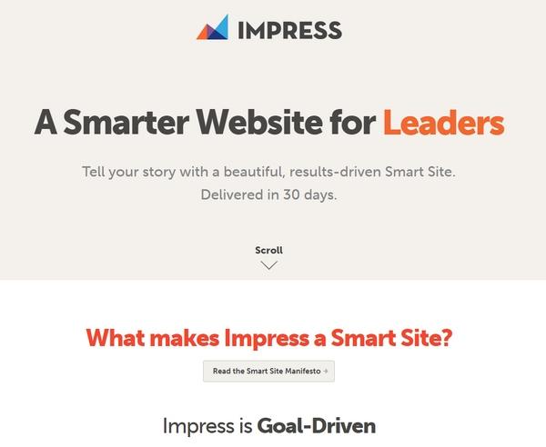 Страница веб-агентства Impress