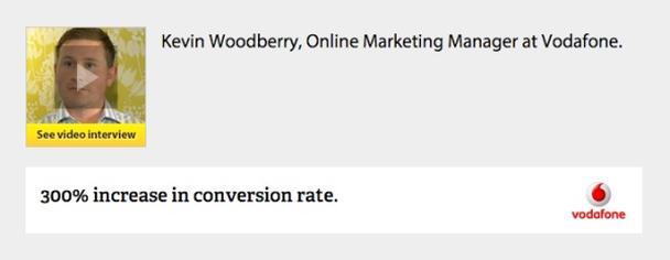 пара примеров эффективных отзывов от Conversion Rate Experts