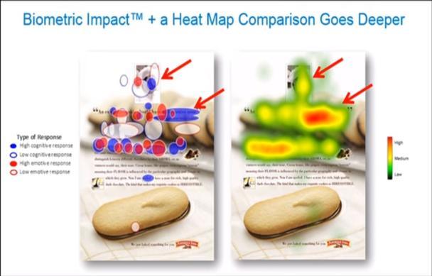 биометрический анализ и тепловая карта
