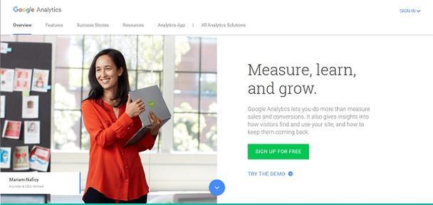 Главная страница Google Analytics