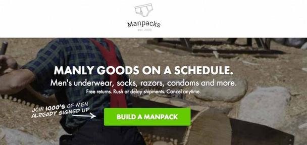 Manpacks доставляет главные «мужские» товары по расписанию