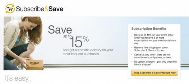Amazon: «Подпишись и сэкономь»