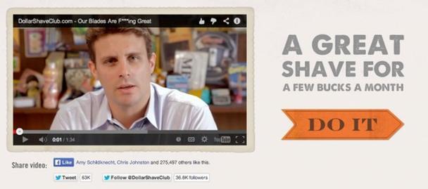 DollarShaveClub обещает великолепное бритье всего за несколько долларов в месяц