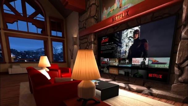 Netflix в виртуальной реальности (в комплекте с заснеженным пейзажем за окном)