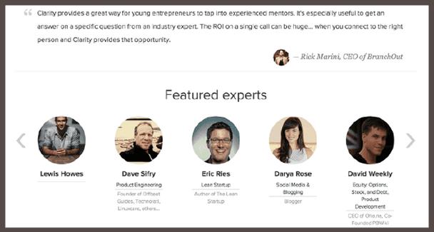 Пример пользовательского отзыва и списка экспертов