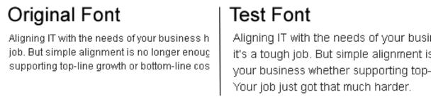 тест, касающийся только шрифтового оформления сайта