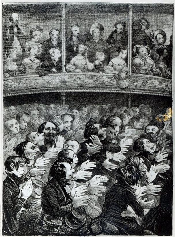 В Париже девятнадцатого века клакёры достигли вершины своего влияния на театр