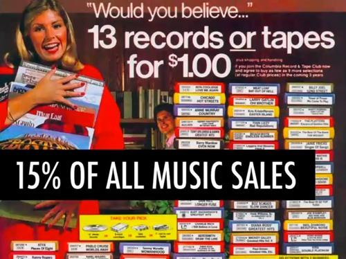 Можете ли вы поверить, что 13 виниловых дисков или 13 кассет можно купить за 1 доллар?