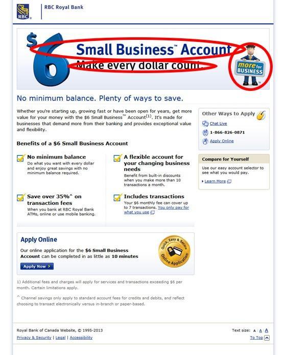 Целевая страница RBC Royal Bank