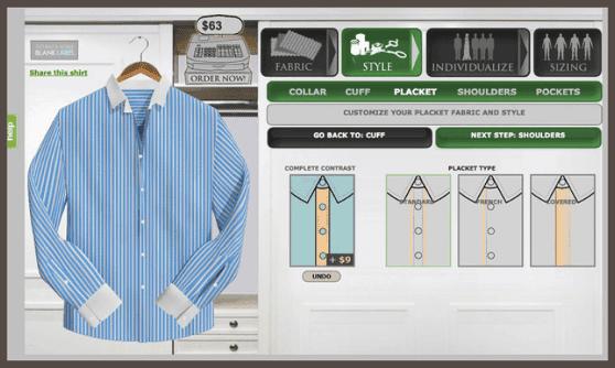 Домашняя страница сайта компании Blank Label до редизайна…