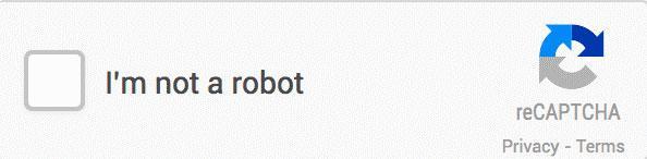 Пример чек-бокса с надписью «Я не робот» (I`m not a robot)