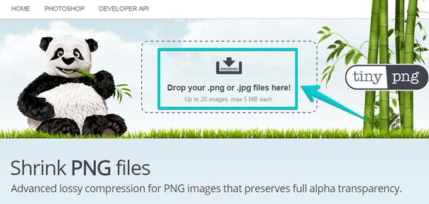 Кликните внутри выделенной области, чтобы загрузить изображение