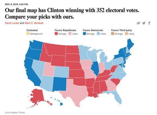 Предварительные результаты выборов графически представлены на этой карте