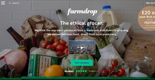Farmdrop, интернет-магазин еды