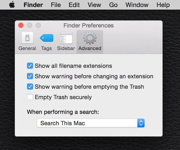 На Mac пройдите следующий путь: Finder > Preferences > Advanced — а затем поставьте галочку рядом с фразой «Show all filename extensions»